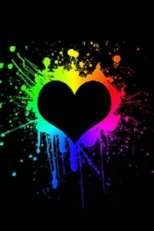 Neon Heart Splash Live Wallpap for Android