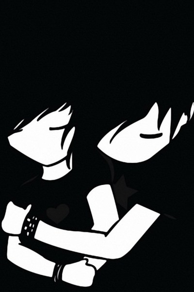 Emo Boy And Girl IPhone4 (4S) Wallpaper | IPhone Faves Mobile ... - Cliparts.co