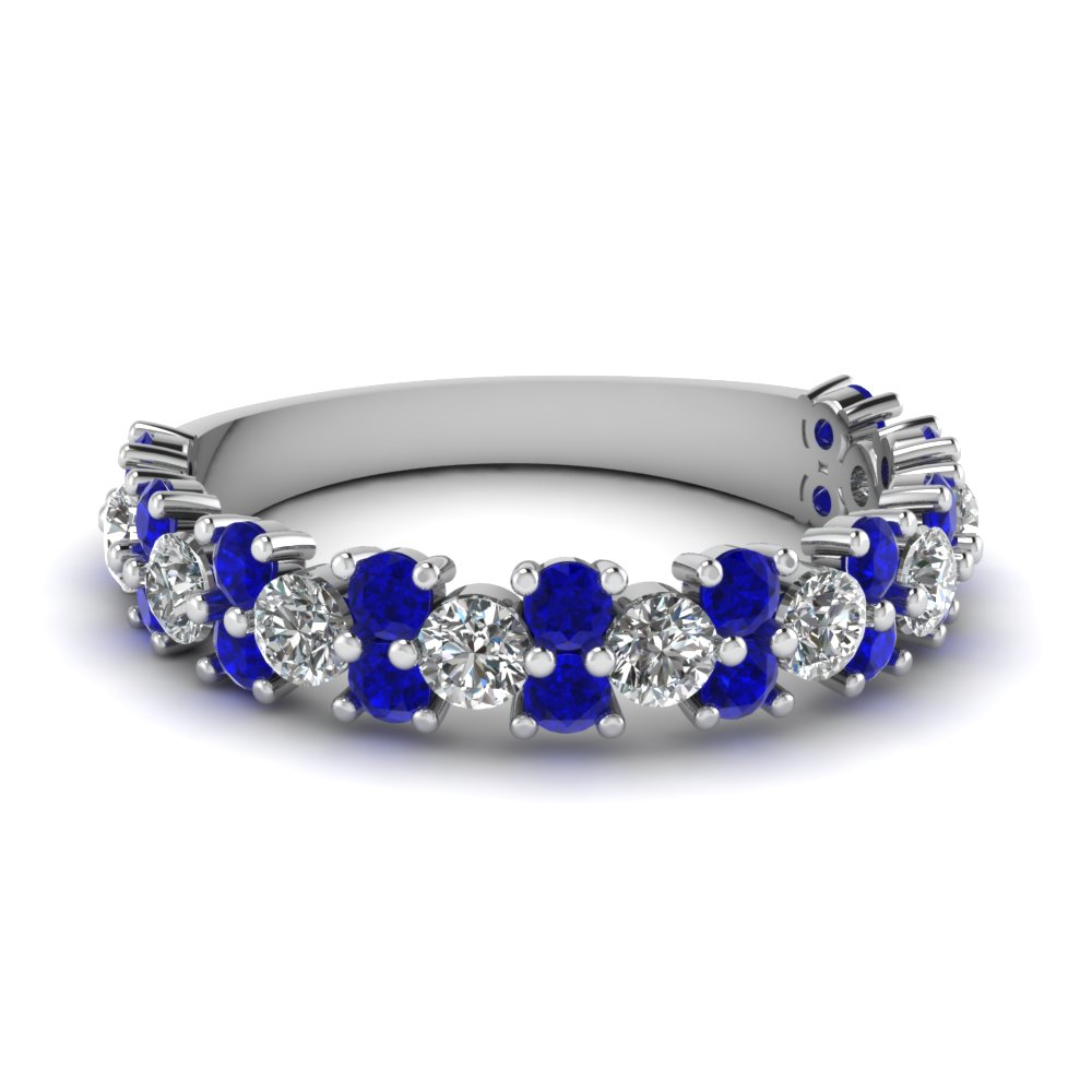 help what blue sapphire wedding bands would go with this ering show me yours blue sapphire wedding rings I just got my matching wedding band from Blue Nile and I love it The sapphires are such a pretty blue colour and they really shine in the daylight this