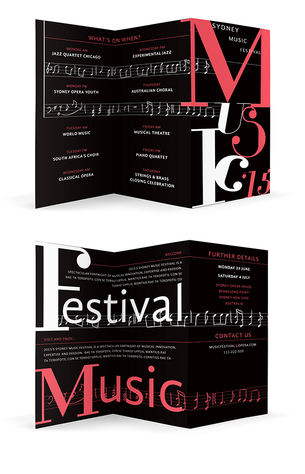 How to Create a High Impact Typographic Brochure in Adobe InDesign brochure folded out