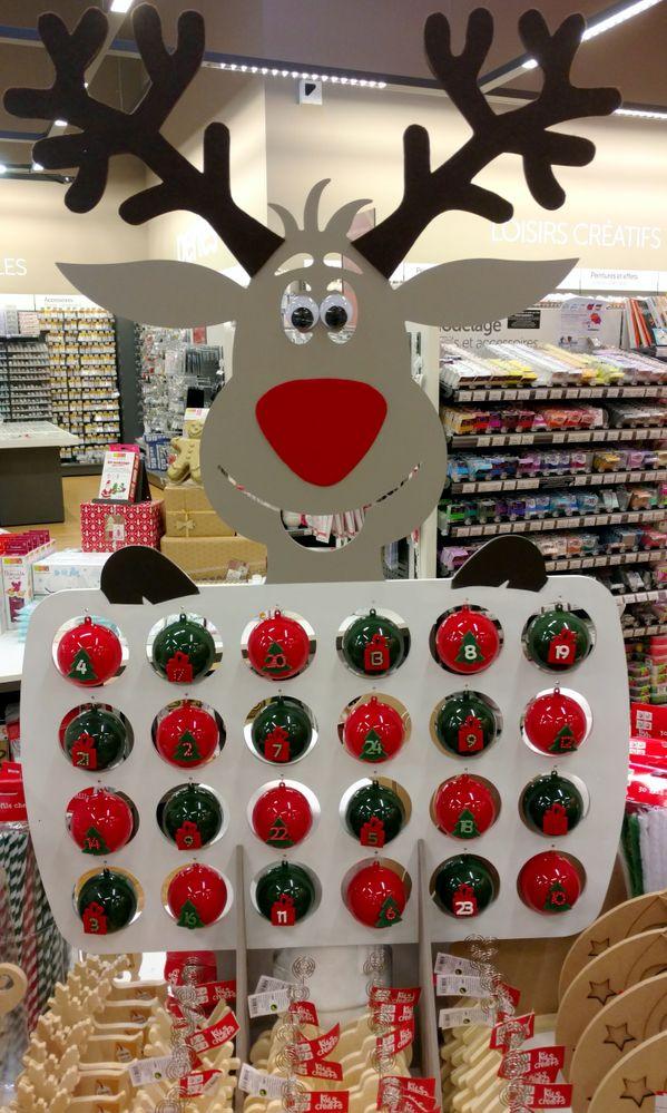 Calendrier renne du Père Noël - Cultura