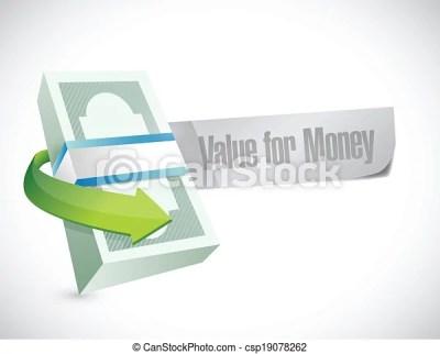 Clip Art Vector of value for money bills sign illustration design over a white... csp19078262 ...