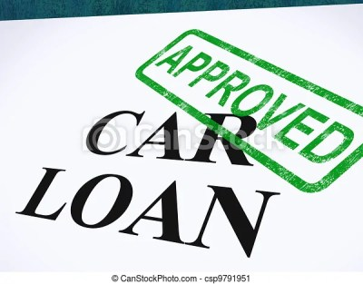 Clipart of Car Loan Approved Stamp Shows Auto Finance Agreed - Car Loan... csp9791951 - Search ...