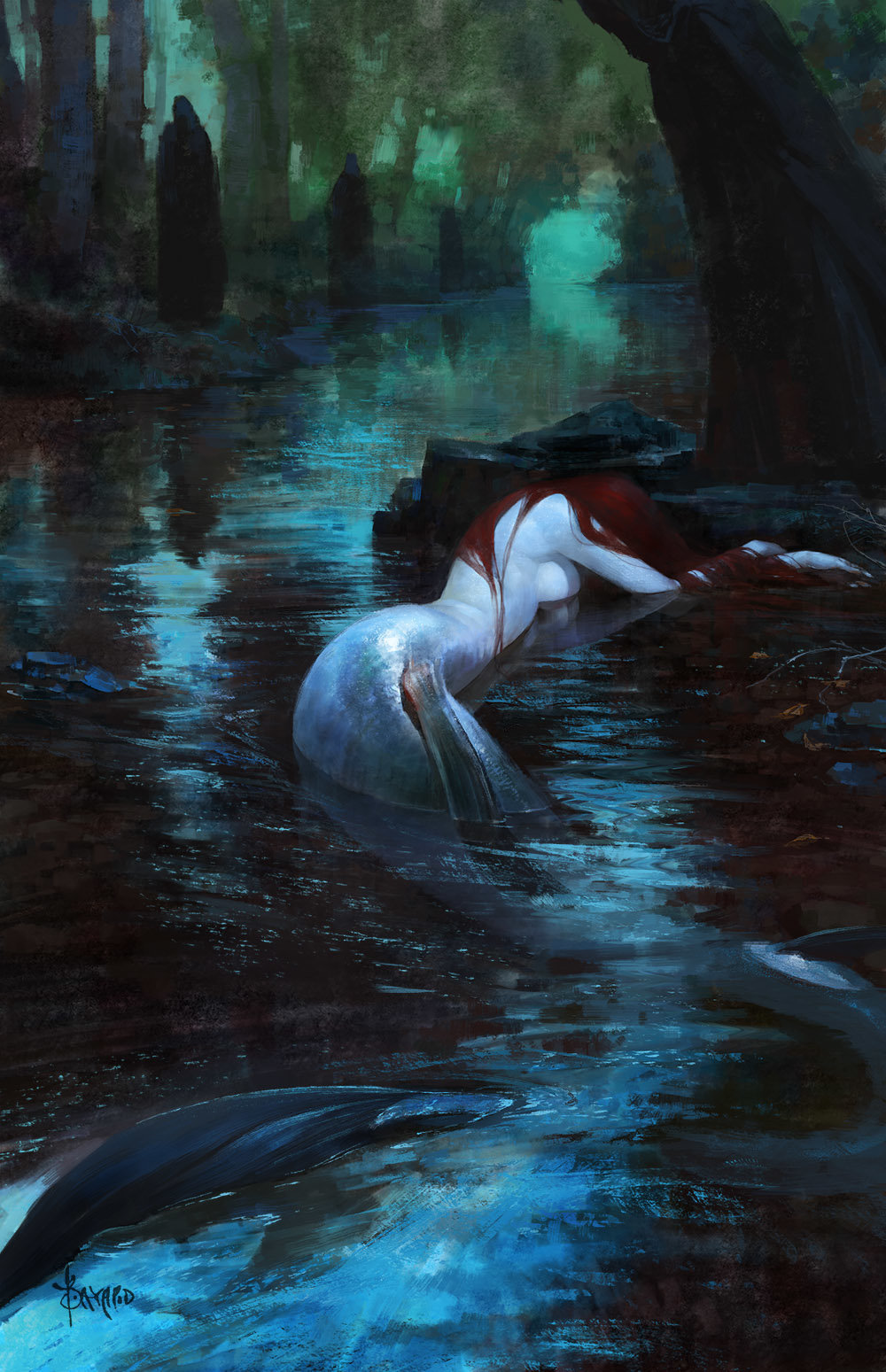 Mermaid Concept Art and Illustrations   Concept Art World     assortment of mythical creatures such as mermaids  mermen and sirens  created by the many talented artists featured on Concept Art World