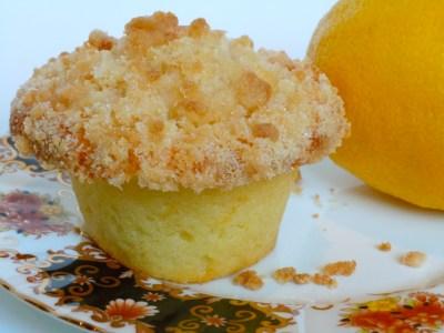 Lemon Crumb Muffins with Lemon Glaze | CookiesCakesPiesOhMy