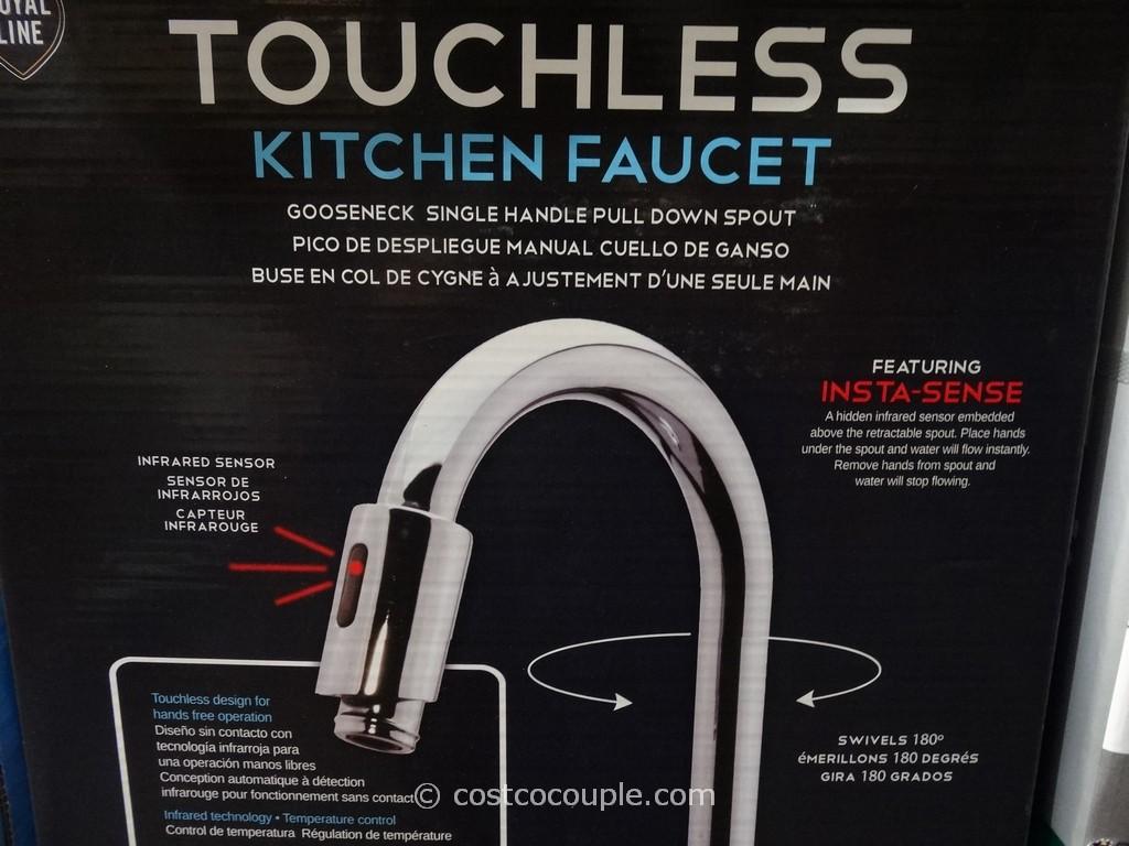 royal line touchless chrome kitchen faucet touchless kitchen faucet Royal Line Touchless Chrome Kitchen Faucet Costco 4