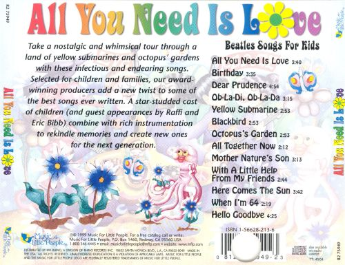 All You Need Is Love: Beatles Songs for Kids - Various Artists | Songs, Reviews, Credits | AllMusic