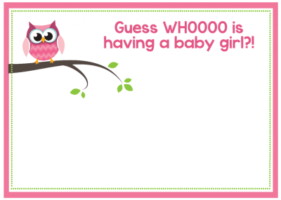 Free Printable Owl Baby Shower Invitations {& Other Printables}