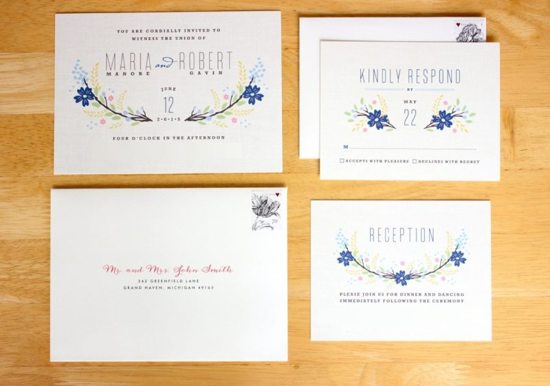 our wedding invitations from minted minted wedding invitations Botanical Blooms wedding invitations from Minted