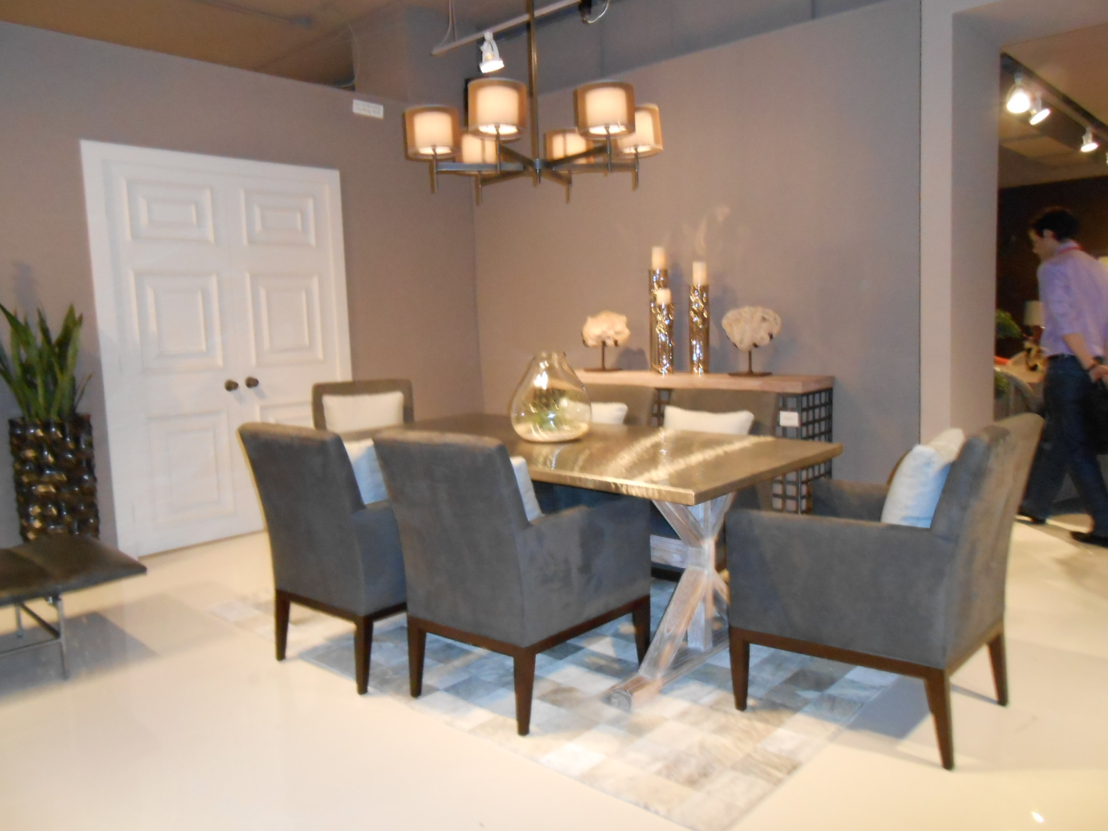 temptations from high point market stainless steel kitchen table Twilight Bay dining from Lexington