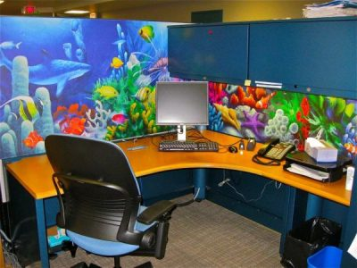 Cubicle Wallpaper - Cube Decor Zone