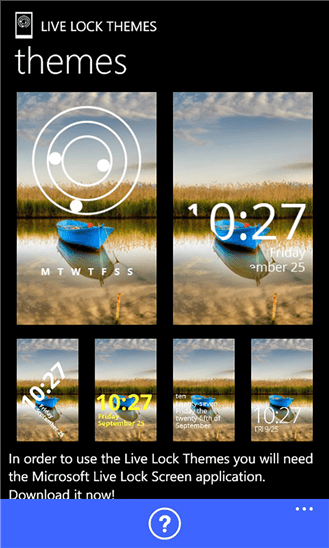 Live Lock Themes App for Windows Phone 8.1 Live Lock ...