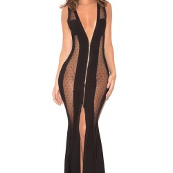 14dd41bccd Clothing Max Dresses Margeaux Black Bandage and Mesh Maxi Dress
