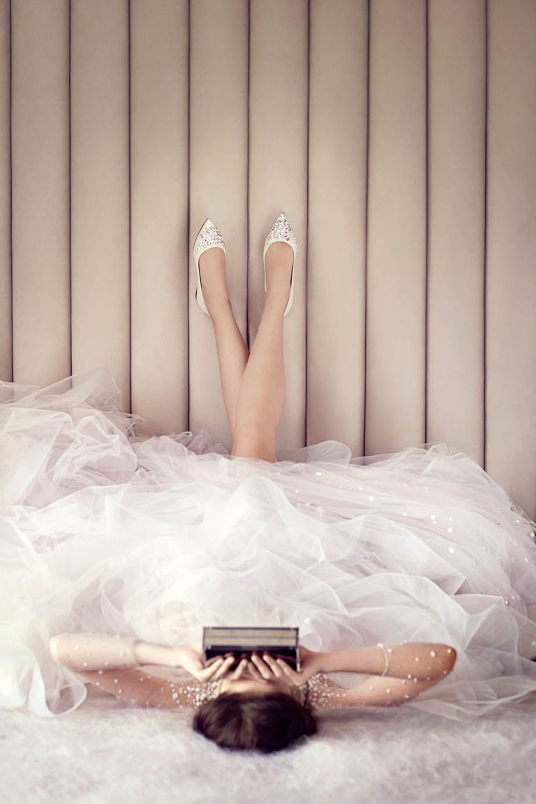 engraving your wedding date on your wedding shoes jimmy choo says i do jimmy choo wedding shoes The Alina Flat Jimmy