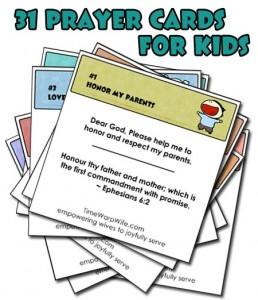 31 Prayer Cards for Kids - Free Printable - 24/7 Moms