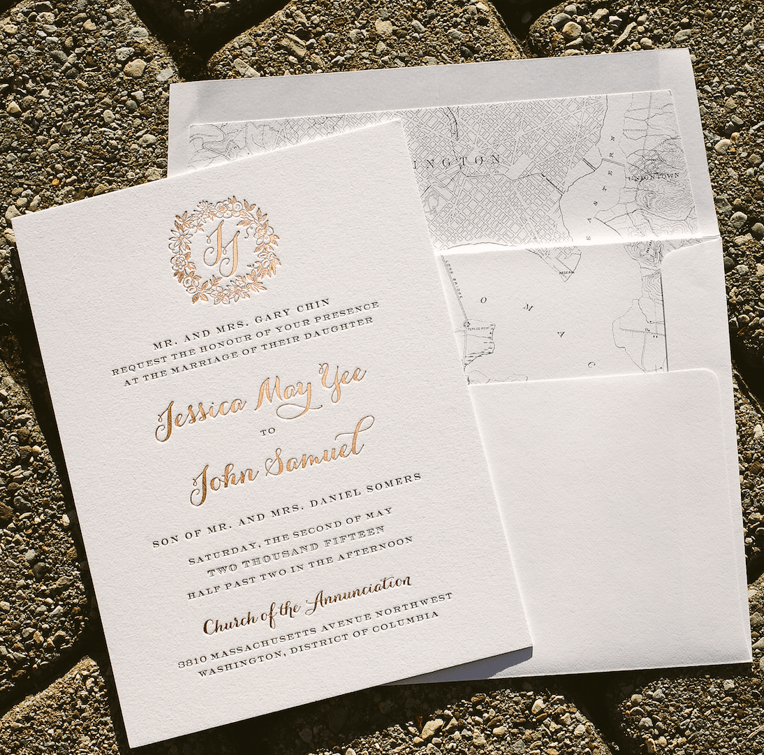 rose gold wedding invitations with floral wreath rose gold wedding invitations