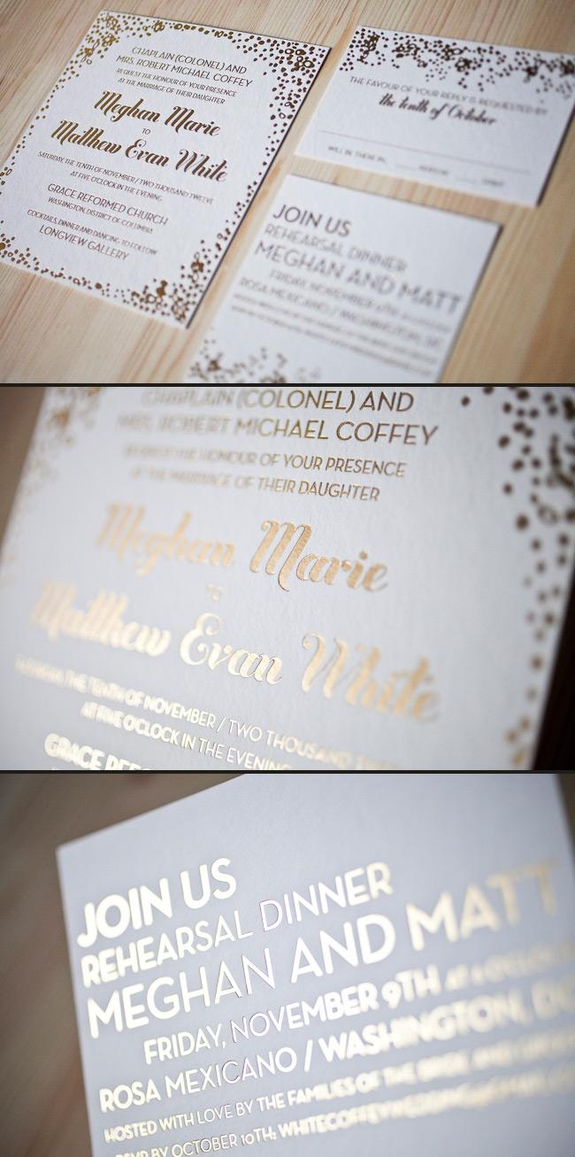 foil wedding invitations wedding invitations printing Foil stamped wedding invitations are unique and modern