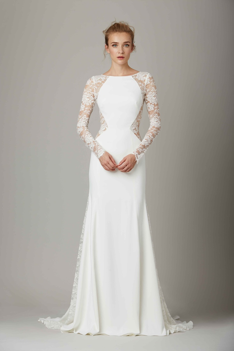 untraditional wedding dresses The Lounge lace cut out wedding dress by Lela Rose Fall Winter