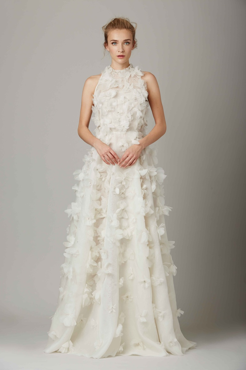high neck wedding dress The Glass House high neck wedding dress by Lela Rose Fall Winter