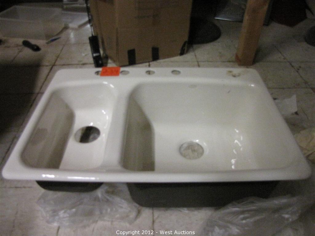 kohler porcelain dual bowl kitchen sink kohler kitchen sinks Scaffolding Saws Construction Tools and More