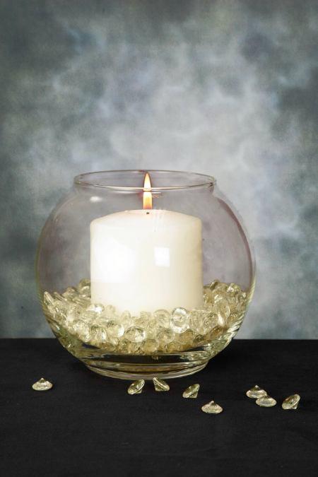 Aqua Vase Gems