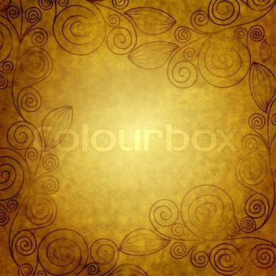 Old grunge wallpaper with vintage borders | Stock Photo | Colourbox