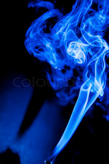 Black and white smokes on opposite backgrounds | Stock Photo | Colourbox