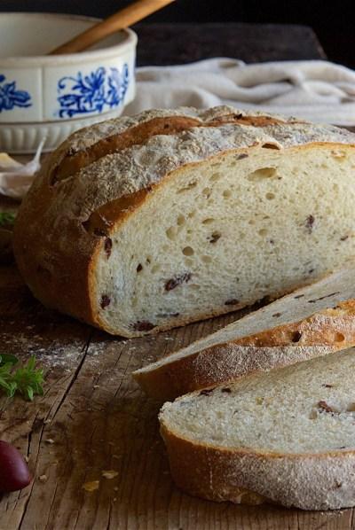 Rustic Olive Sourdough Bread Recipe | King Arthur Flour