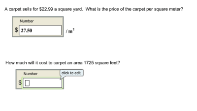 Solved: A Carpet Sells For $22.99 A Square Yard. What Is T... | Chegg.com