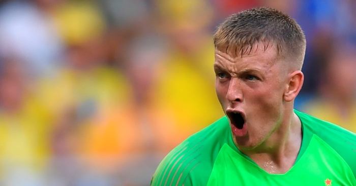 Daft  Pickford reveals how he injured himself in Sweden win     Everton keeper Pickford offers verdict on Alisson mistake