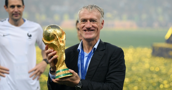 Deschamps  The two things I told my France champions   Football365 France manager Didier Deschamps was left soaked in beer  champagne and  sweat after celebrating World Cup glory with his delirious squad     a moment  he will