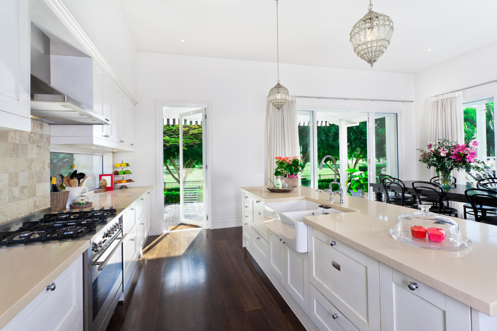 galley kitchen design ideas galley kitchen remodels Here s another example of a single line kitchen with island