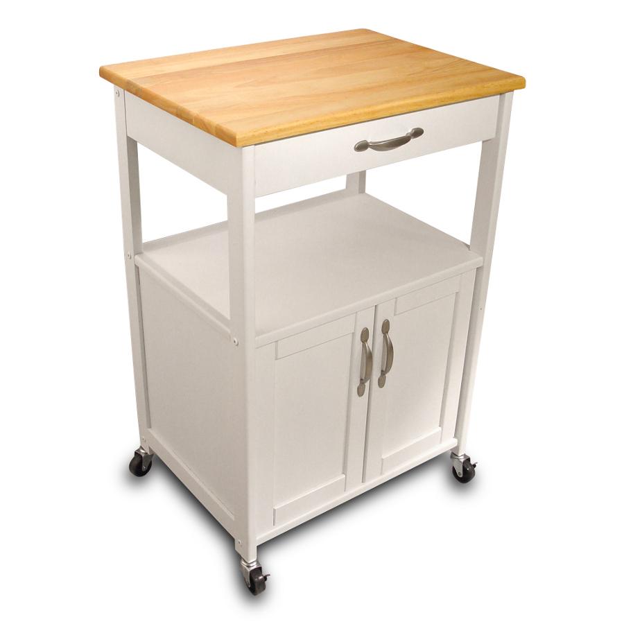 space saving cart kitchen utility table Catskill Open Shelf White Kitchen Trolley 23