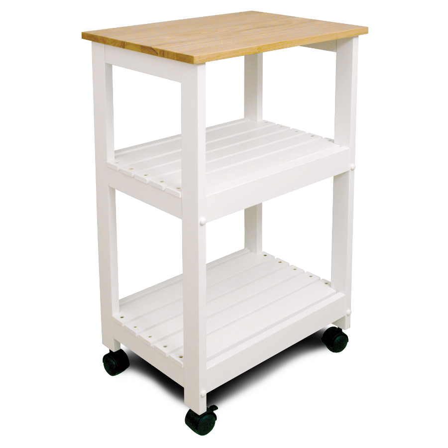 space saving cart kitchen utility table Catskill White Kitchen Trolley 21 x15 Utility Cart with 2 Slatted Shelves