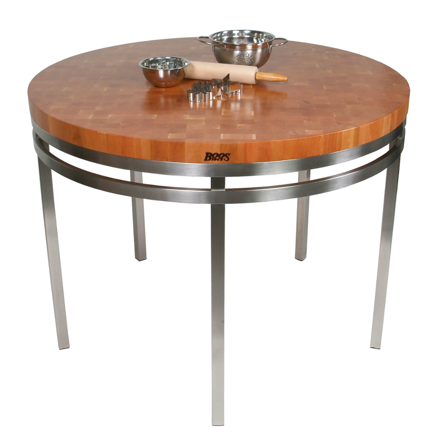 Round butcher block kitchen table - Round Butcher Block Kitchen Table