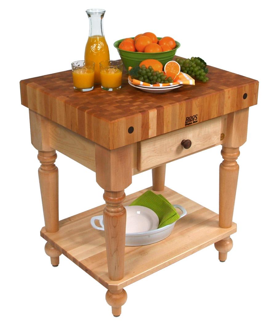 butcher block table butcher block kitchen table Boos Maple Rustica Butcher Block with Solid Shelf 30