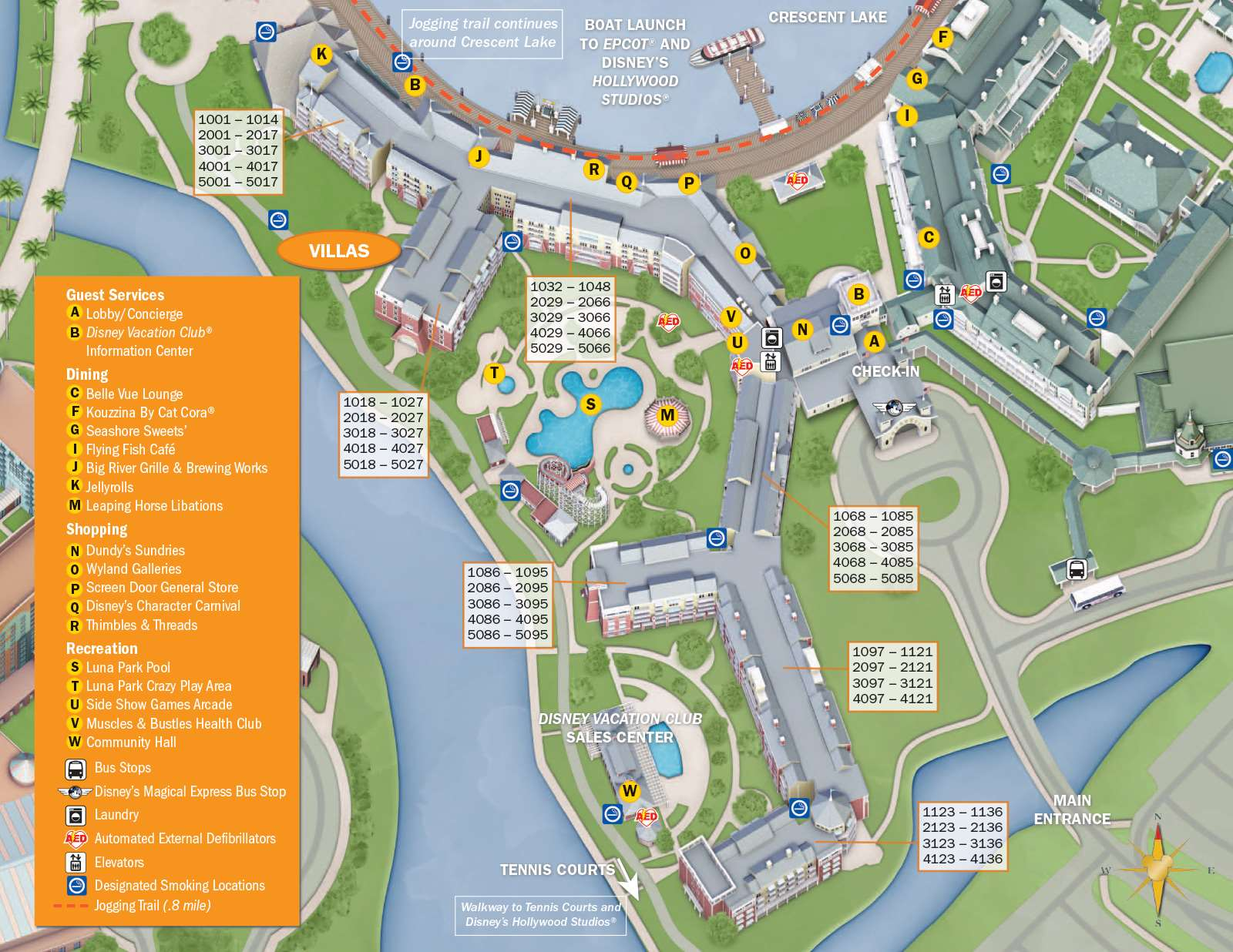 PHOTOS   New design of maps now at Walt Disney World resort hotels
