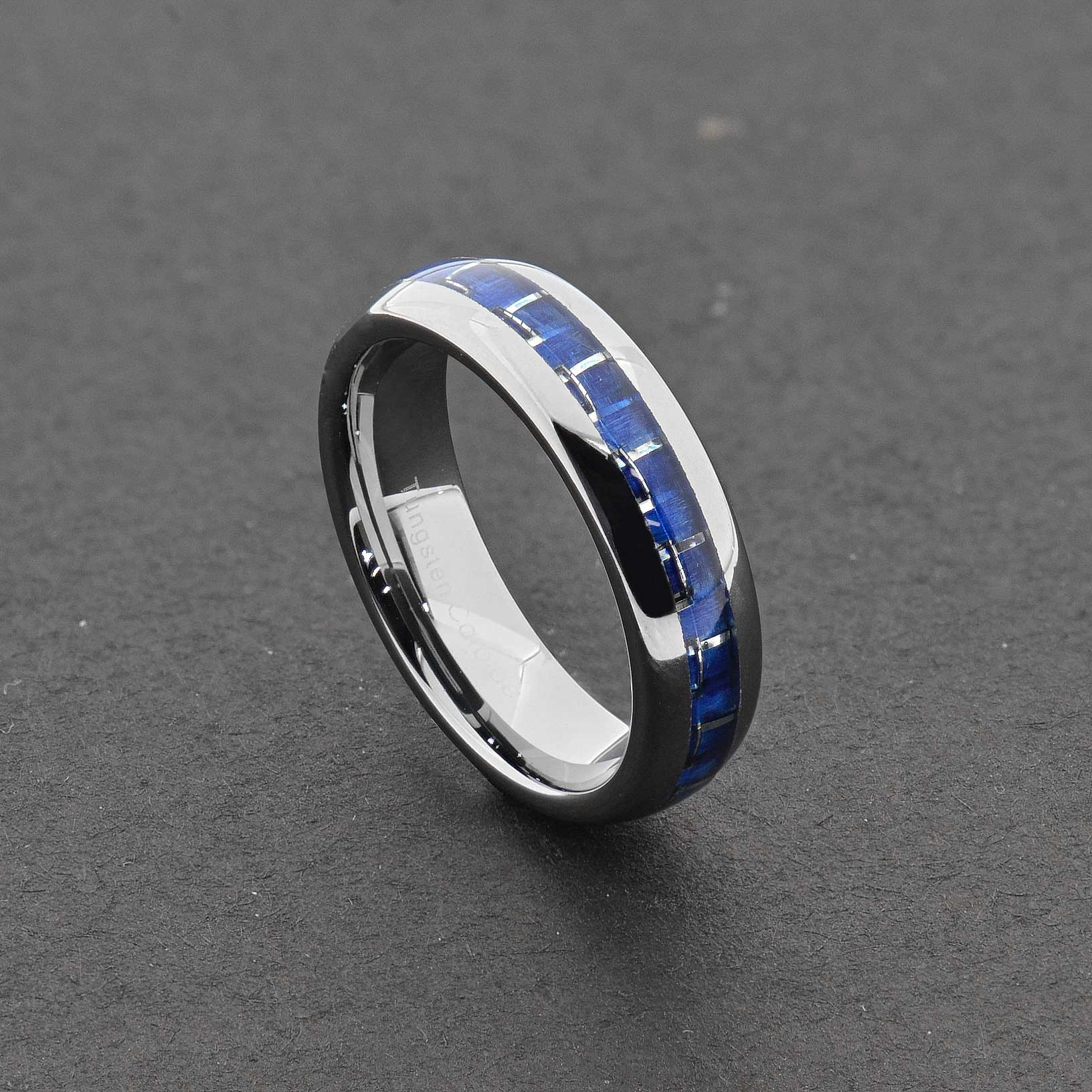 cobalt wedding band Tungsten Carbide Ring Comfort Fit Wedding Band Men