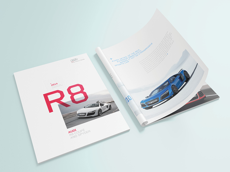 How to Design a Stunning Brochure  30 Expert Tips and Templates     Audi Brochure