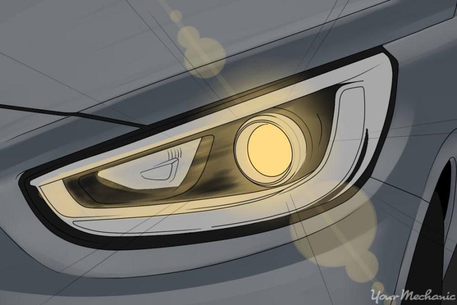 How to Adjust Your Headlights   YourMechanic Advice close up of headlight
