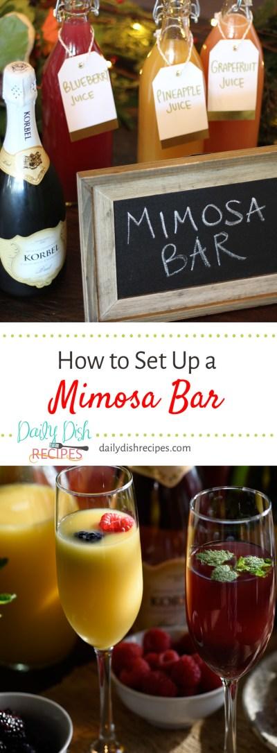How To Set Up a Festive Mimosa Bar   Daily Dish Recipes