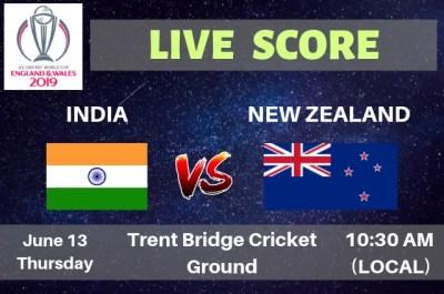 India vs New Zealand Live Streaming & Live Score | ICC ...