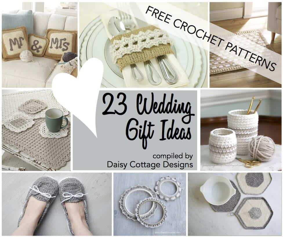 23 free wedding crochet patterns wedding gift Wedding season is upon us isn t it I know I ve been really busy making bridal shower invitations over in the Etsy shop With that in mind