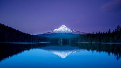 Peaceful blue sunset HD desktop wallpaper : Widescreen : High Definition : Fullscreen