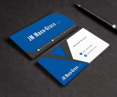 Bold, Serious, Travel Business Card Design for JM Maco-Grace LLC by Stream Graphics | Design ...
