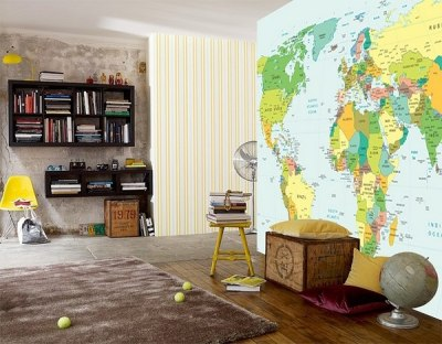 Teen bedroom wall decoration ideas – cool photo wallpapers and decals