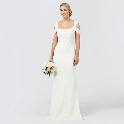 wedding dresses beige wedding dresses Ben De Lisi Occasion Ivory sequin Julianne wedding dress
