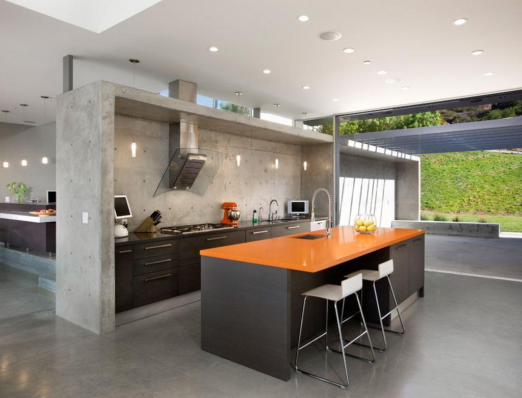 concrete kitchen design ideas concrete floor kitchen modern concrete kitchen