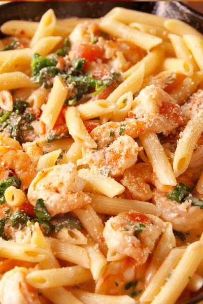 Best Tuscan Shrimp Penne Recipe - How to Make Tuscan Shrimp Penne