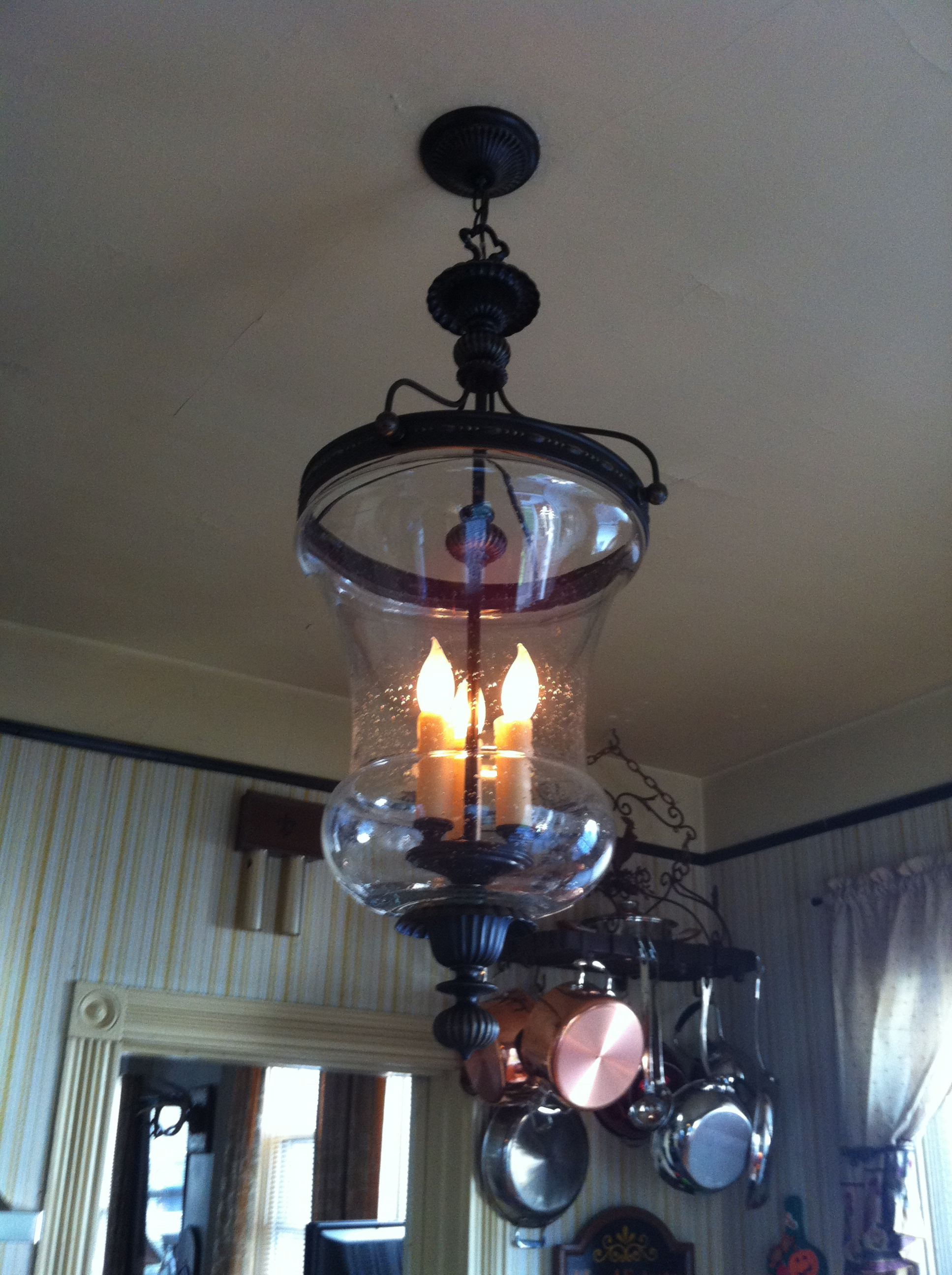 attachment id country kitchen lighting Restoring my antique French country kitchen one piece at a time